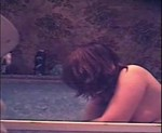 Vintage hidden cam clip stars a decent unlucky lady with some blubber. Side view of a rather short bath.